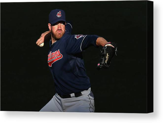 American League Baseball Canvas Print featuring the photograph Zach Mcallister by Jeff Gross