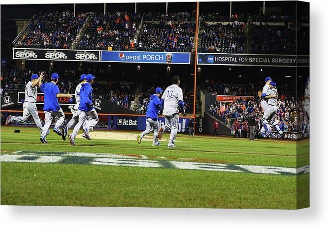 American League Baseball Canvas Print featuring the photograph World Series - Kansas City Royals V New by Al Bello
