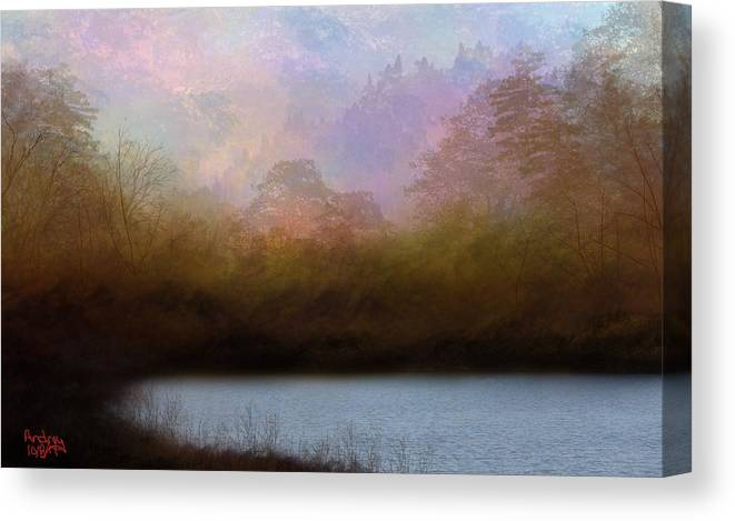 Tree Canvas Print featuring the digital art Beyond The Forest Edge by Todd Androy
