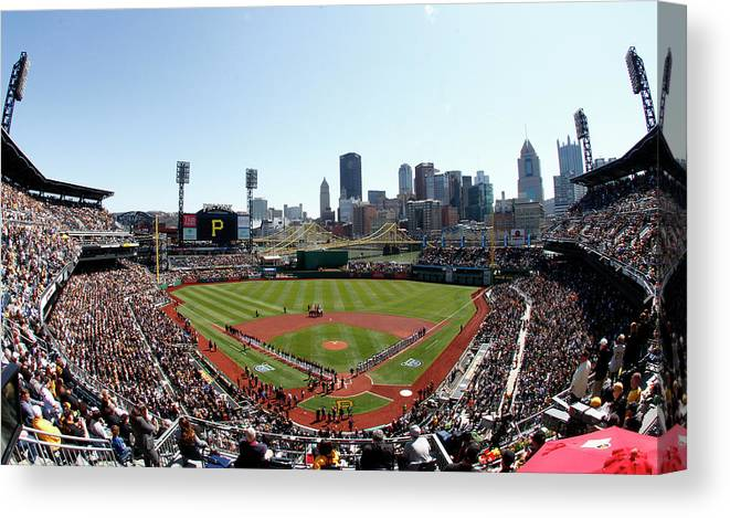 Professional Sport Canvas Print featuring the photograph Chicago Cubs V Pittsburgh Pirates by Justin K. Aller