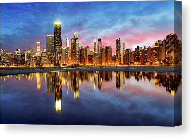 Tranquility Canvas Print featuring the photograph Chicago by Joe Daniel Price