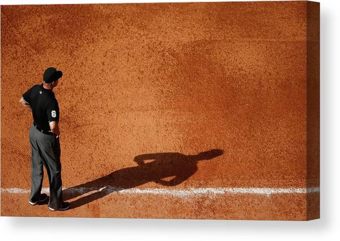 American League Baseball Canvas Print featuring the photograph Chicago White Sox V Houston Astros by Scott Halleran