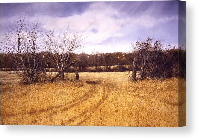 Landscape Canvas Print featuring the painting Gateway by Tom Wooldridge