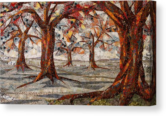 Trees Canvas Print featuring the tapestry - textile Interwoven by Linda Beach