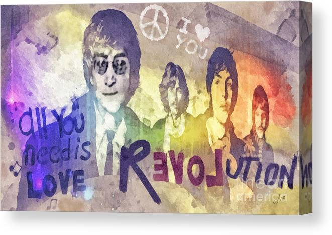 Revolution Canvas Print featuring the mixed media Revolution by Mo T