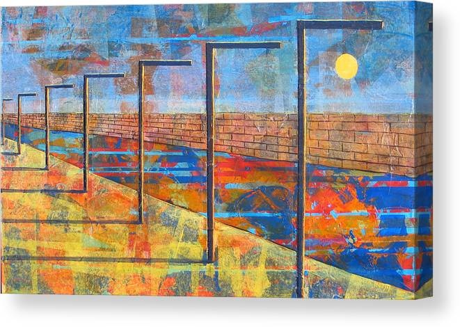 Landscape Canvas Print featuring the painting Within These Walls by Rollin Kocsis