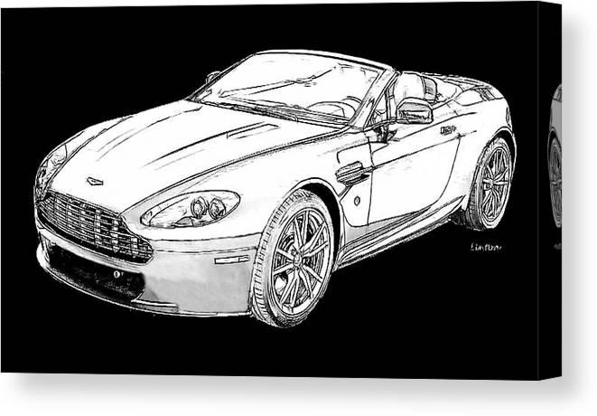 Aston Martin Vantage Canvas Print featuring the digital art Aston Martin by Larry Linton