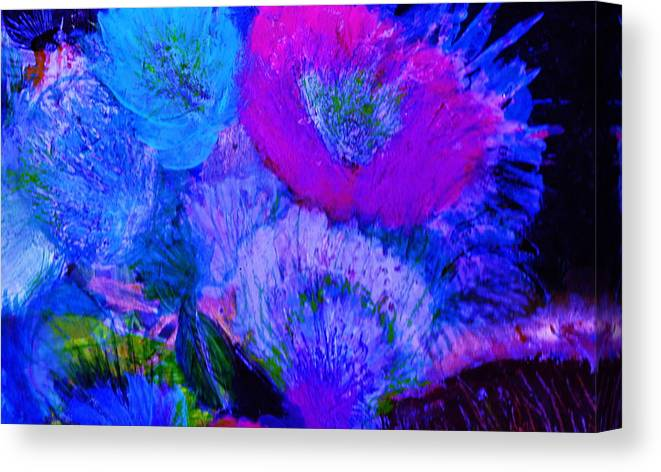 Flowers Canvas Print featuring the painting Night Flowers by Anne-Elizabeth Whiteway