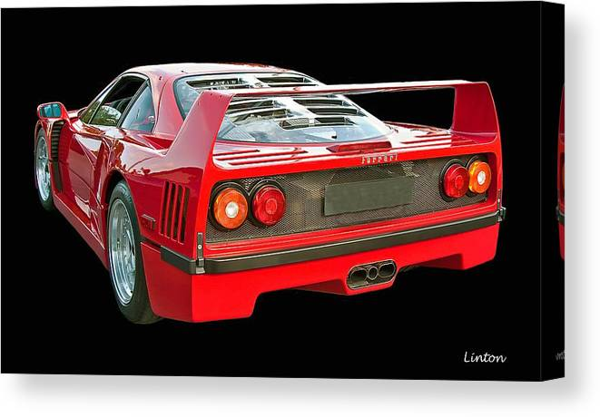 Ferrari F40 Canvas Print featuring the photograph Spoiler 2 by Larry Linton