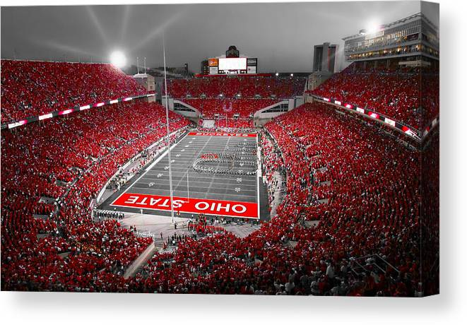 Ohio Canvas Print featuring the photograph A Scarlet Stage by Kenneth Krolikowski