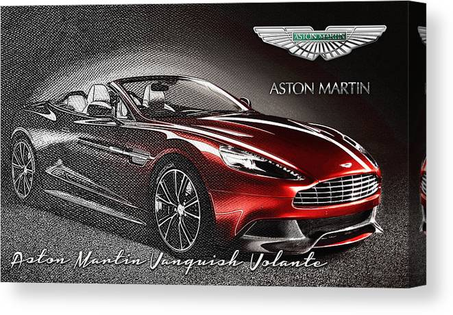 �wheels Of Fortune� Collection By Serge Averbukh Canvas Print featuring the photograph Aston Martin Vanquish Volante by Serge Averbukh