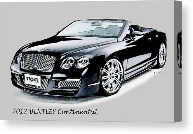 Bentley Canvas Print featuring the digital art Bentley by Larry Linton