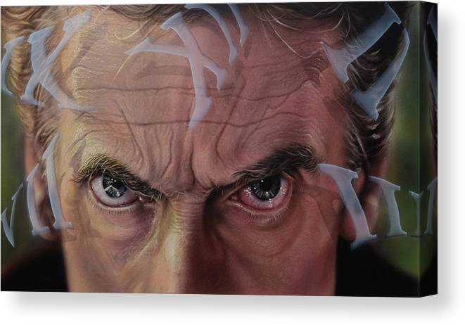 Drwho Canvas Print featuring the painting Dr. Who by Robert Haasdijk