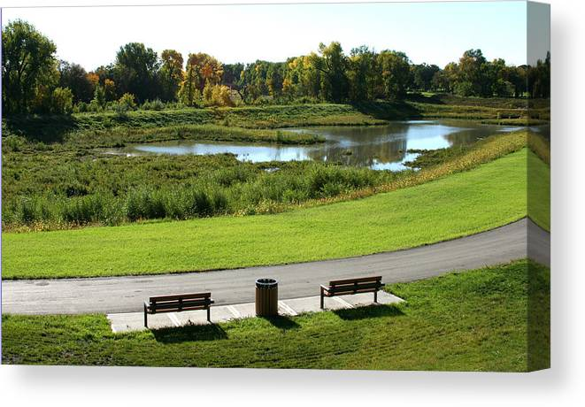Landscape Canvas Print featuring the photograph Greenway by Steve Augustin