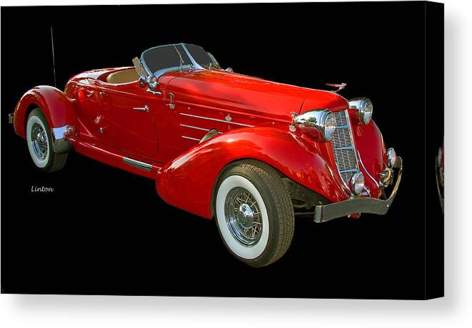 Auburn Speedster Canvas Print featuring the photograph Speedster 2 by Larry Linton