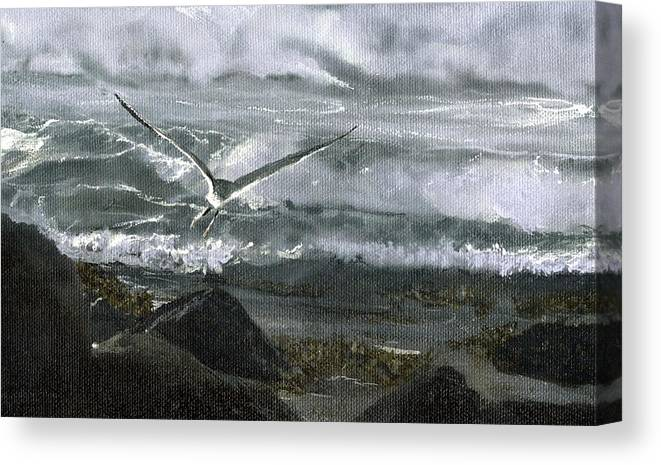 Canvas Print featuring the painting Stormy Flight 2 by Charles Parks