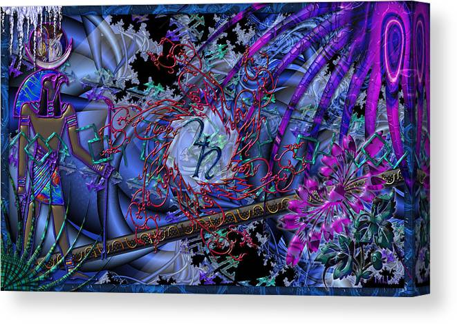 Canvas Print featuring the digital art Symagery 29 by Kenneth Armand Johnson