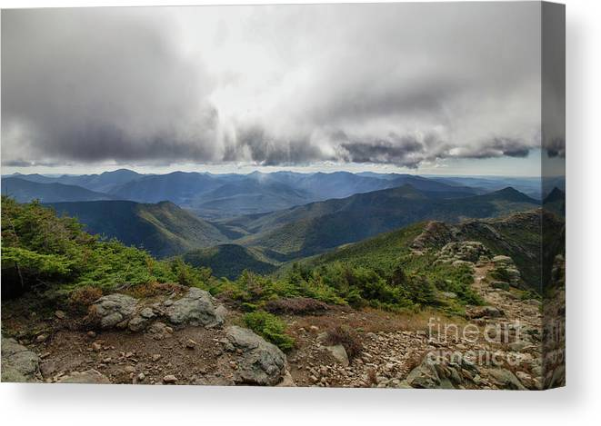 Franconia Ridge Canvas Print featuring the photograph The Pemi Wilderness by Diana Nault