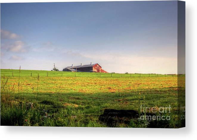Sunrise Canvas Print featuring the photograph Waiting on the sun by Diana Nault