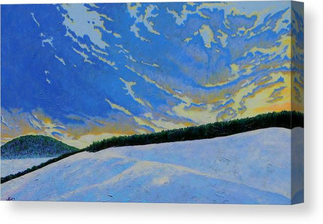 Nature Canvas Print featuring the painting Winters Morning Magic by Joe Triano