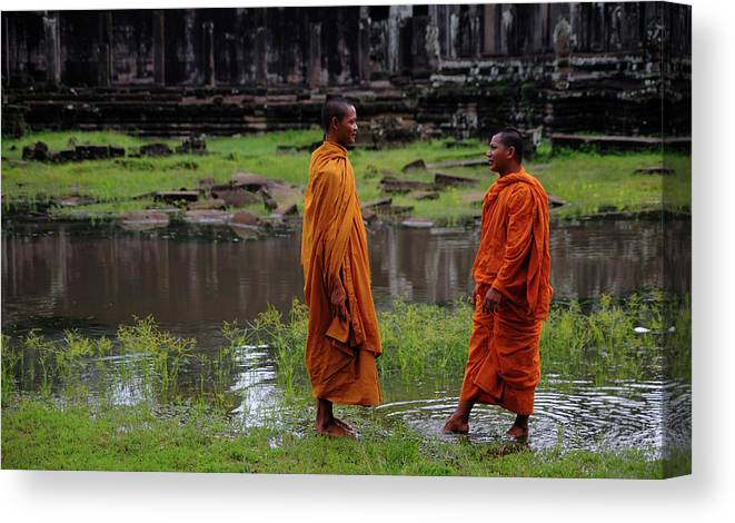 Southeast Asia Canvas Print featuring the photograph Cambodia by Rawpixel