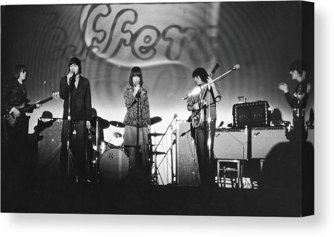Rock Music Canvas Print featuring the photograph Jefferson Airplane At The Fillmore East by Fred W. McDarrah