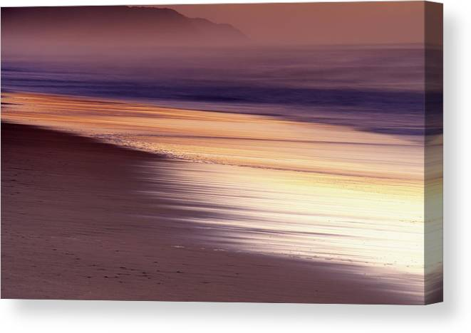 Tranquility Canvas Print featuring the photograph Long Exposure Of Water At Dawn With by Emil Von Maltitz