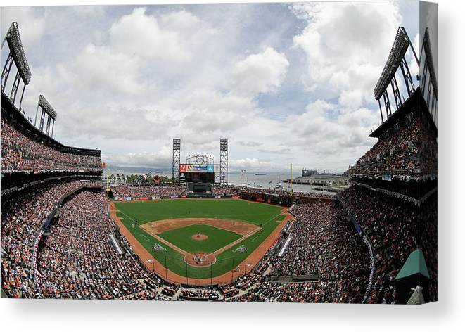 San Francisco Canvas Print featuring the photograph Barry Zito by Ezra Shaw