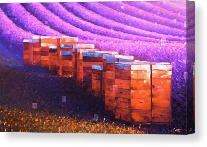 Provenceart Canvas Print featuring the painting Beehives of Provence by Rob Buntin