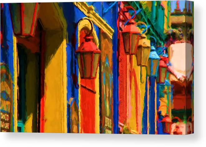 Buenos Aires Canvas Print featuring the mixed media Buenos Aires by Asbjorn Lonvig