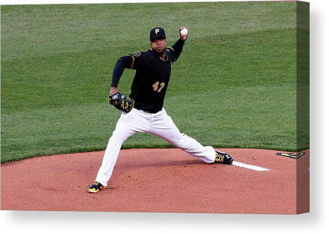 Professional Sport Canvas Print featuring the photograph Francisco Liriano by Justin K. Aller
