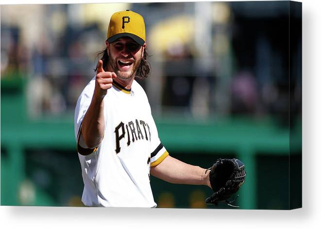 Ninth Inning Canvas Print featuring the photograph Jason Grilli by Justin K. Aller