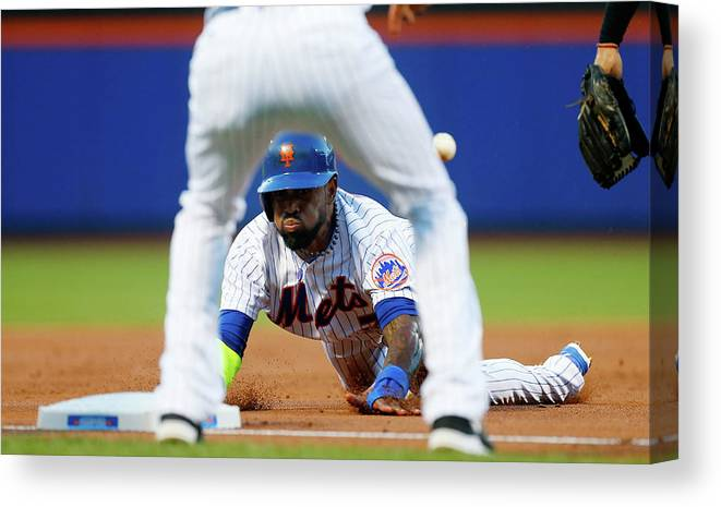 American League Baseball Canvas Print featuring the photograph Jose Reyes by Jim Mcisaac