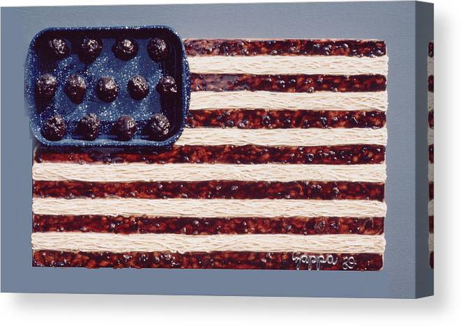 Czappa Canvas Print featuring the relief Speggetti Flag by Bill Czappa