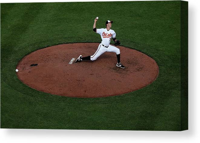 People Canvas Print featuring the photograph Ubaldo Jimenez by Rob Carr