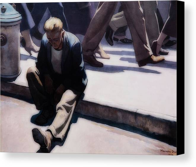Painting Canvas Print featuring the painting Forgotten Man by Maynard Dixon