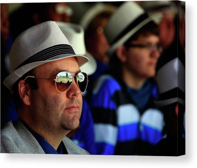 Fedora Canvas Print featuring the photograph Baltimore Orioles V Kansas City Royals by Jamie Squire