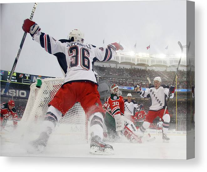 National Hockey League Canvas Print featuring the photograph 2014 Coors Light Nhl Stadium Series - by Bruce Bennett