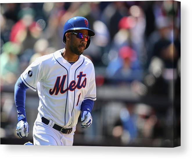 American League Baseball Canvas Print featuring the photograph St Louis Cardinals V New York Mets by Al Bello