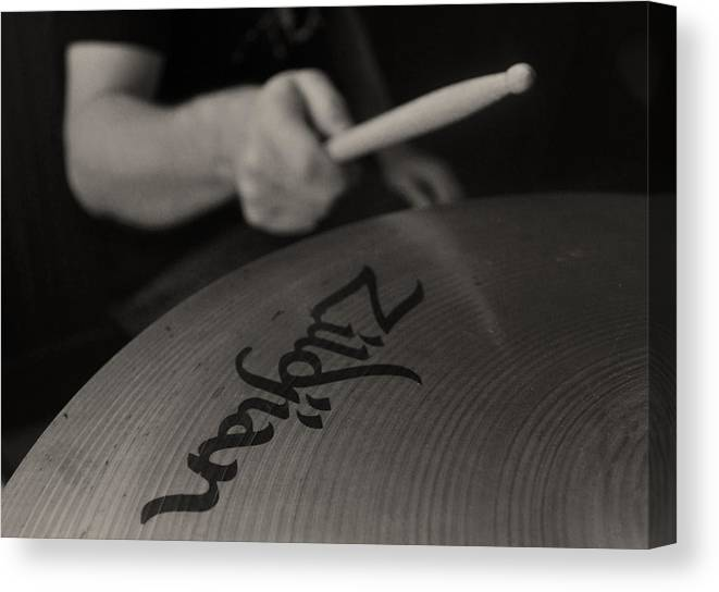Zildjian Canvas Print featuring the photograph A Cherished National Cymbal by Everett Bowers