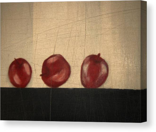Still Life Canvas Print featuring the mixed media Apples for Gayle by Joseph Ferguson