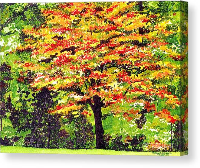 Fine Art Canvas Print featuring the painting Autumn Splendor by Patricia Griffin Brett