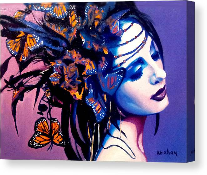 Butterflies Canvas Print featuring the painting Betty by Jose Manuel Abraham