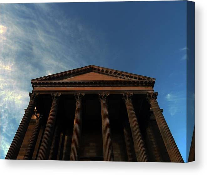 Scottish Church Canvas Print featuring the photograph Imposing And Enigmatic Structure by Baato