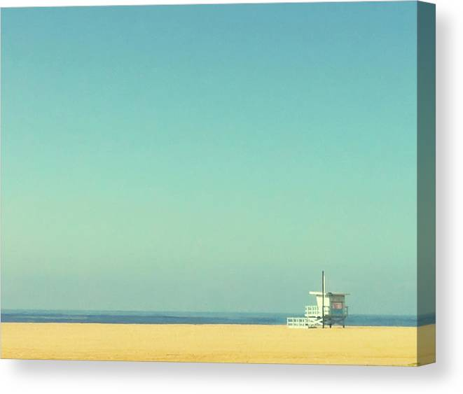 Tranquility Canvas Print featuring the photograph Life Guard Tower by Denise Taylor