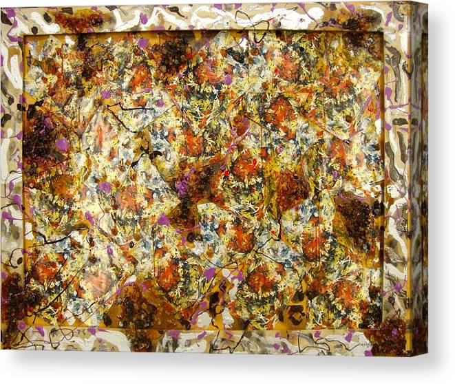 Canvas Print featuring the painting Materias assembled by Biagio Civale