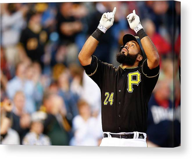 People Canvas Print featuring the photograph Minnesota Twins V Pittsburgh Pirates by Jared Wickerham