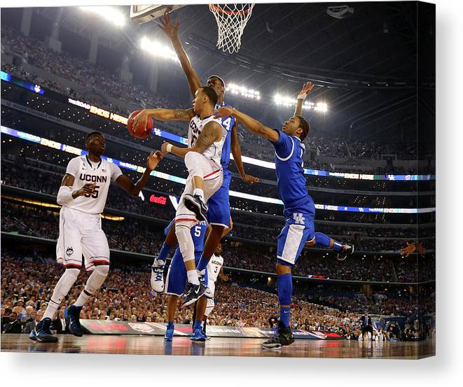 Connecticut Huskies Canvas Print featuring the photograph Ncaa Mens Final Four - Championship by Jamie Squire