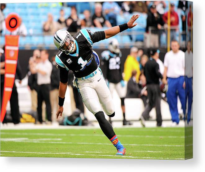 North Carolina Canvas Print featuring the photograph New Orleans Saints V Carolina Panthers by Grant Halverson