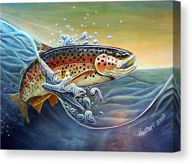 Rick Huotari Canvas Print featuring the painting Rainbow by Rick Huotari
